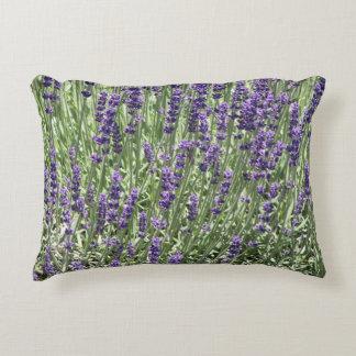 Purple Lavender Floral Accent Pillow
