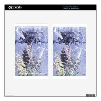 Purple Lavender Floral Victorian Steampunk Man Decals For Kindle Fire