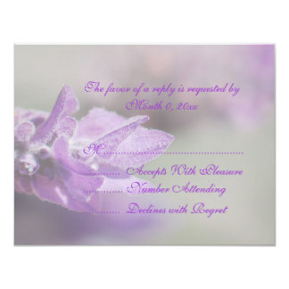 Purple lavender flower wedding   Personalize Card