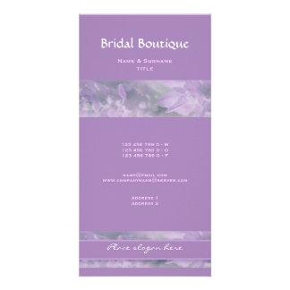 Purple lavender flower wedding | Personalize Card