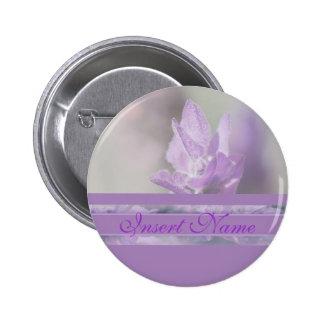 Purple lavender flower wedding | Personalize Pinback Button
