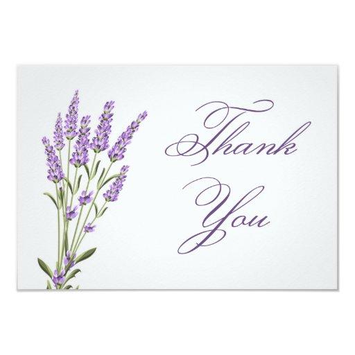purple lavender flowers wedding thank you card zazzle