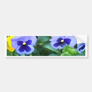 Purple Lavender Garden Pansies Flowers Floral Bumper Sticker
