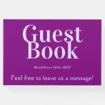 [ Thumbnail: Purple, Lavender Generic Guest Book ]