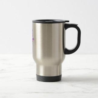 Purple Lavender Outline Hamsa-Hand of Miriam-Hand Travel Mug
