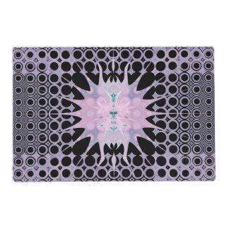 Purple Lavender Pink and Black Art Nouveau Sun Placemat