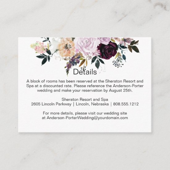 Purple Lavender Pink White Floral Enclosure Cards
