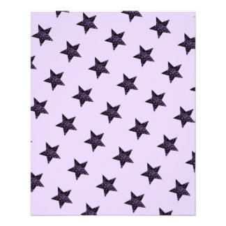Purple Lavender Star Glam Scrapbook Paper