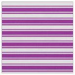[ Thumbnail: Purple & Lavender Striped Pattern Fabric ]