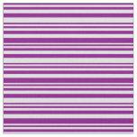 [ Thumbnail: Purple & Lavender Stripes Pattern Fabric ]