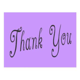 Purple Lavender Thank You Greeting Postcard