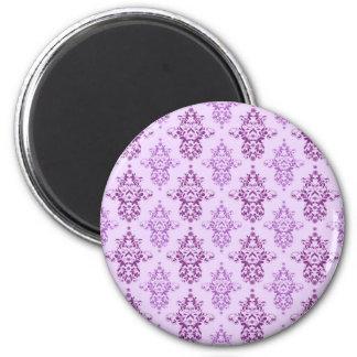 Purple Lavender Two Toned Damask Magnet