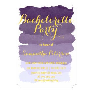 Purple lavender watercolor bachelorette party card