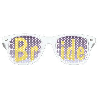 Purple lavender watercolor ombre  wedding Bride Retro Sunglasses