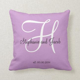 Purple Lavender Wedding keepsake pillow Pillows
