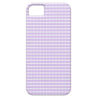 Purple Lavender White Gingham Check Pattern Backgr iPhone SE/5/5s Case