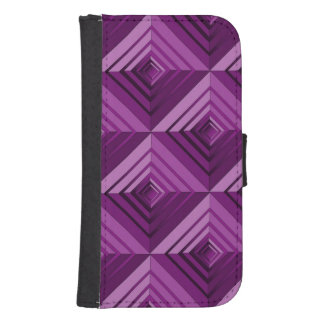 Purple Layers Galaxy S4 Wallet Cases