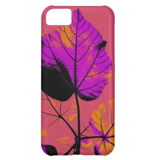 Purple Leaf Abstract Art Design Cover For iPhone 5C