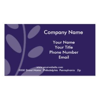 Purple Leaf Business Card