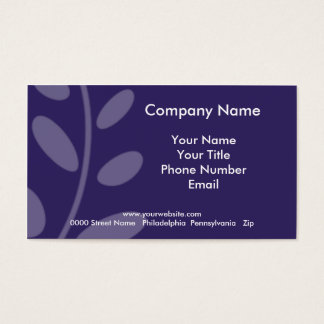 Purple Leaf Business Card