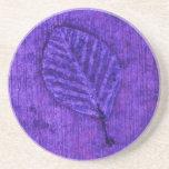 Purple Leaf Fossil Coaster