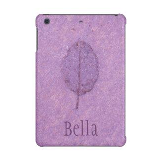 Purple Leaf Fossil iPad Mini Case