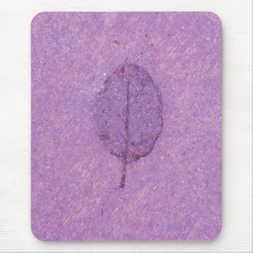 Purple Leaf fossil Mouse Pad