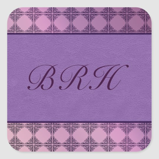 Purple leather and tile stationery sticker