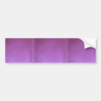 Purple Leather finish Template add TEXT n IMAGE 99 Bumper Sticker