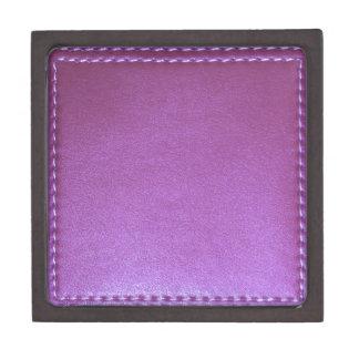 Purple Leather finish Template add TEXT n IMAGE 99 Keepsake Box