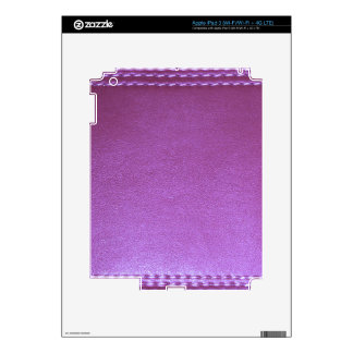 Purple Leather finish Template add TEXT n IMAGE 99 Skins For iPad 3