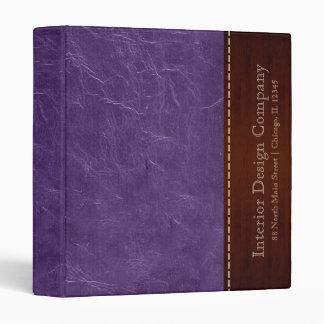 Purple leather look 3 ring binder