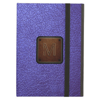 Purple leather look brown tag cover for iPad air