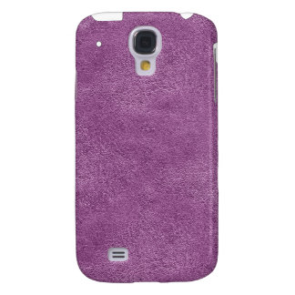 Purple Leather look iPhone3G Samsung Galaxy S4 Cases
