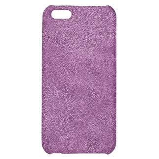 Purple Leather look iPhone4 iPhone 5C Case