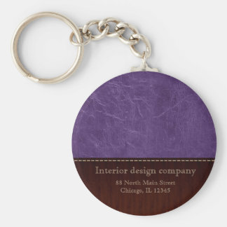 Purple leather look keychain