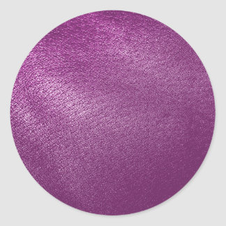 Purple Leather Look Round Stickers