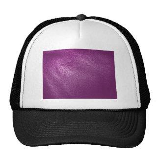 Purple Leather Look Trucker Hat