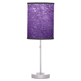 Purple leather texture Table Lamp