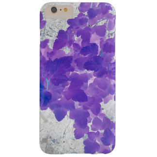 Purple leaves barely there iPhone 6 plus case
