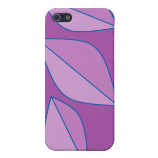 Purple Leaves Cover For iPhone SE/5/5s