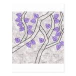 purple leaves post cards