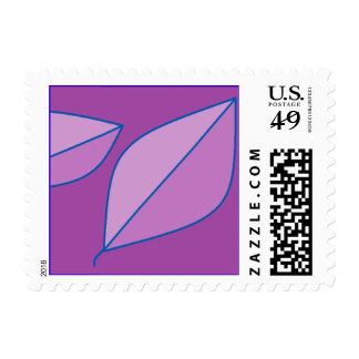 Purple Leaves Postage