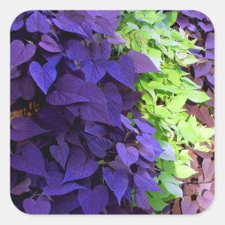 Purple Leaves Stickers