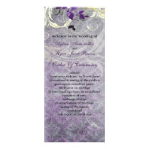purple leaves winter wedding program