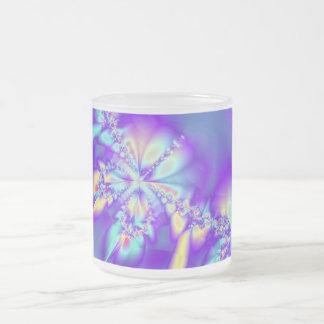 Purple Lei Frosted Glass Coffee Mug
