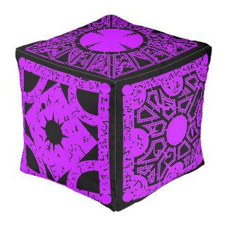 Purple Lemarchand's Lament Configuration Hell Box Cube Pouf