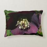 Purple Lenten Rose Easter Flower Accent Pillow