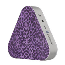 Purple Leopard Animal Print Bluetooth Speaker