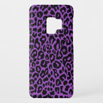 Purple Leopard Animal Print Galaxy S9 Case